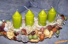 Věnec. Pillar Candles, Advent, Candles