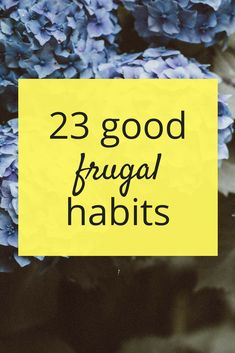 Good habits are, well, good for you. But did you know they're also fantastic for your finances? Here's a list of 23 good habits to try out!