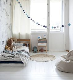 Sweet and simple room - just a few little decorations can make an adorable room for a kid