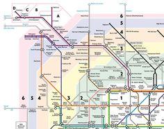 cartina metro di londra