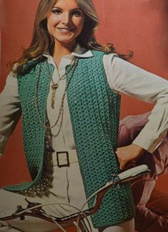 Womens vest crochet patterns free - Gloucester Сlick here pictures and get coupon Crochet Cardigan Pattern, Crochet Patterns, Retro Outfits, Vintage Jacket, Vintage Crochet, Handmade Clothes, Vest Jacket, Clothing Patterns, Double Crochet