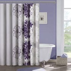 Madison Park Bridgette Sateen Printed Shower Curtain - Overstock Shopping - Great Deals on Madison Park Shower Curtains