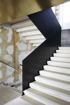 monumental stairs Damir Doma flagship store by March Studio, Paris store design