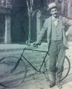 Henry Ford and his bicycle