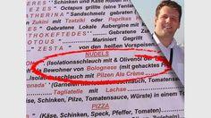 "Leckeren ""Isolationsschlauch"" findet man auf Santorini in Griechenland Tzatziki, Lokal, Event Ticket, Personalized Items, Santorini, Food Menu, Roast, Funny, Greece"