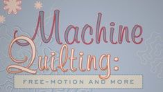 Machine Quilting Class on Craftsy: Free Motion & Quilting Classes, Quilting Tips, Quilting Tutorials, Quilting Projects, Quilting Designs, Sewing Projects, Longarm Quilting, Sewing Tips, Sewing Ideas