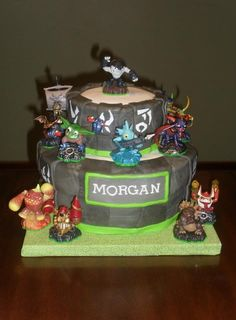 #Name plate #Skylander Birthday Cake  #Twins