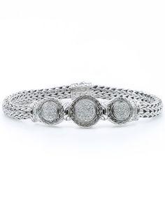 John Hardy Silver 0.34 cttw. Diamond Bracelet