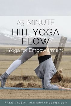 HIIT Yoga Flow for Empowerment – Mariah White Yoga - yoga fitness Yoga Flow, Yoga Meditation, Yin Yoga, Quick Weight Loss Tips, Weight Loss Help, Weight Loss Program, Losing Weight, Lose Weight At Home, Reduce Weight