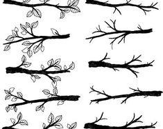 HALLOWEEN SALE Branch Silhouettes Clipart Clip Art by PinkPueblo