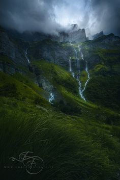 The Smell of the Rain. A summer storm over the dramatic peaks of the Hautes Savoie, France. [601x900] Photo by Enrico Fossati : EarthPorn