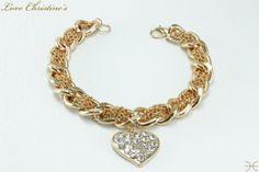 Carla - heavy golden #link #chunky #bracelet  by #LoveChristines #love #fashion #jewelry #bracelet #Etsy