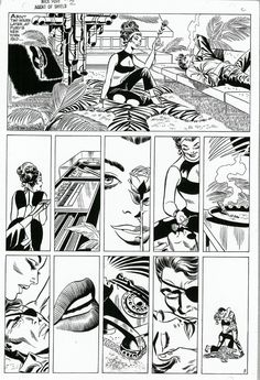 The original unaltered version of this page from NICK FURY, AGENT OF S.H.I.E.L.D. by Jim Steranko. The Comics Code mandated a number of chan...