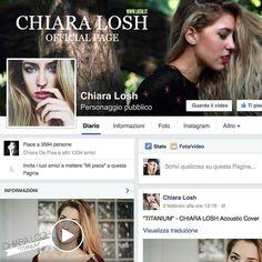 Grazie a tutti per i vostri mi piace commenti e condivisioni siete sempre di più e sono felicissima  Se qualcuno non è ancora passato dalla mia pagina facebook CHIARA LOSH venite a darci un'occhiata e fatemi sapere il vostro parere sugli ultimi video!  (link in bio) P.S. Novità in arrivo!!!!! #grazie #Thanks #ChiaraLosh #love #followers #Facebook #Music #video #cover #girl #italiangirl