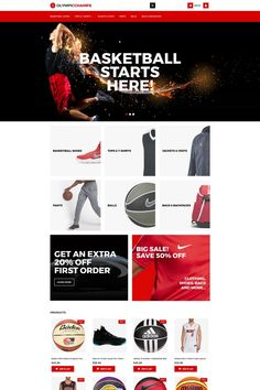 OlympicChamps - Basketball MotoCMS Ecommerce Template #65069