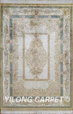 Yellow Hand Knotted Kashmir Silk Rug Antique Carpet Materials: Silk Dyeing: vegetable dyeing Technology: Hand Knotted Size: 2'x3' -14'x20'    Fit for: bedroom, living room, dining area, foyer, back door, porch, office etc. … Email: alice@yilongcarpet.com  WhatsApp/Tel/Wechat: +86 156 3892 7921 #carpetwholesale #handmadecarpetpersian #handmadecarpets