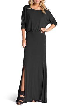 LAmade 'Luna Dolman' Open Back Blouson Maxi Dress