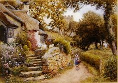 Arthur Claude Strachan (1865=1929). English Cottages ~ Blog of an Art Admirer
