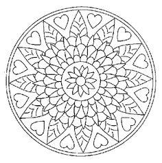 mandala... hearts