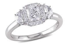 1 CT  Multi-shape Diamonds TW Fashion Ring  14k White Gold GH I1;I2, Ice.com