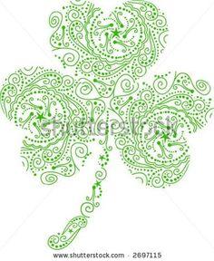 Pretty Celtic Tattoo | Shamrock Tattoo Vector - 2697115 : Shutterstock I like the designs inside!                                                                                                                                                                                 Más