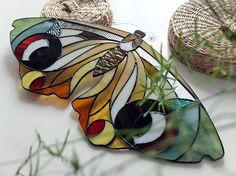 vetro macchiato suncatcher 'obeso .moth' design