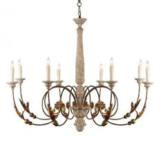 This high Italian Chandelier is dramatic and oversize to setting the tone for the room built around it. Finish is in Greige and Gold.  All Chandeliers Come With Standard 7 Ft. Chain. Chandelier Pole Sold Separately. Refer to suggested products at the bottom of this page.