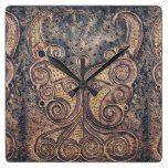 Rustic angel square wall clock  #angel #Clock #Rustic #RusticClock #Square #Wall The Rustic Clock