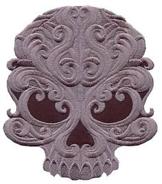 Skull Applique embroidered patch