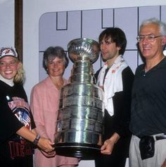 Scott Niedermayer and the family celebrating the 95' cup