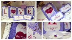 wedding bunting and place cards