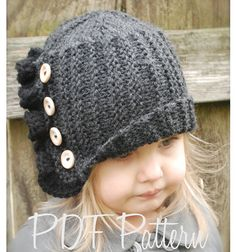 Knitting PATTERN-The Paisley Cloche' Toddler Child