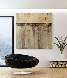 Large Painting - 40x40 Modern Abstract Art - Big Contemporary Earth Toned Wall Decor on Etsy, $625.00