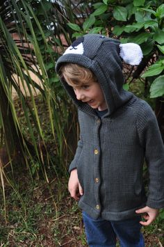 Soft and cuddly- our koala bear sweater is made with our specially spun organic cotton yarn. Lovely charcoal grey with big white ears and a loveabl. Animal Sweater, Organic Cotton Yarn, Ethical Shopping, Sweater Making, Maya, Coral, Turtle Neck, Knits, Pullover