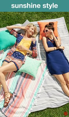 For a picnic-in-the park look that embraces all things summer, try Americana with a boho twist. Pair patterned shorts and a matching kimono with an embroidered tank, or toss on a dress detailed with floral embroidery—both are playfully chic and perfect for relaxing on your patch of grass.