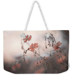 Jenny Rainbow Fine Art Photography Weekender Tote Bag featuring the photograph Blue Flex Flower. Aliens by Jenny Rainbow