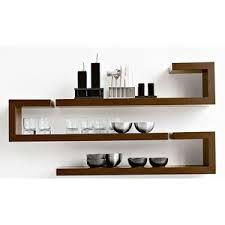 polished hardwood shelves floating - Google Search
