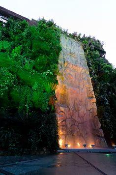 Oculto en el corazón de Madrid, entre Callao y la Gran Vía, se encuentra un enclave mágico y de excepcional belleza, el jardín vertical más grande del mundo: 844 m² de superficie, más de doscientas especies vegetales y una altura de casi 25 metros. Inspirado en los legendarios Jardines Colgantes de Babilonia, este fascinante rincón verde es un diseño del arquitecto Félix González Vela, creado para proporcionar una vista fresca y relajante a quienes se alojan el Hotel Santo Domingo.
