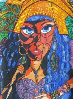 PARÍS FASHION-ACUARELA FERNANDINI (2 de 70x100cm)- PRECIO:1200 dólares. VENDIDO | Venta de Pinturas al óleo y acuarela de Patty Fernandini