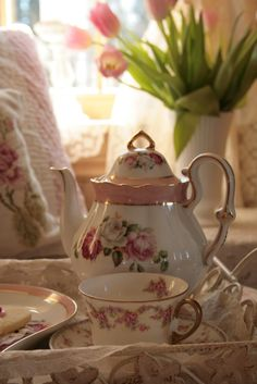 .this makes me think of my mama.   I still have all her beautiful tea cups.  I really should display them.