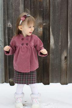 Sunday Brunch Jacket and Skirt ~ Oliver + S pattern ~ corduroy jacket with mismatched buttons, brushed cotton skirt