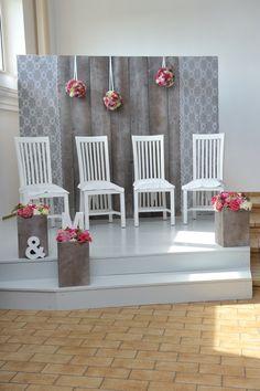 Hintergrund Wedding Kirche rosa/grau/pink/weiß