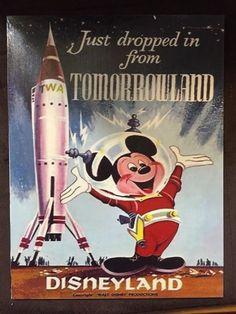 Vintage Tomorrowland Cross Stitch, Vintage Disney Poster, Vintage Disneyland Poster, Tomorrowland, Vintage Poster by NewYorkNeedleworks Etsy Retro Disney, Vintage Disney Posters, Vintage Disneyland, Disney Love, Vintage Mickey, Punk Disney, Walt Disney, Disney Parks, Disney Pixar