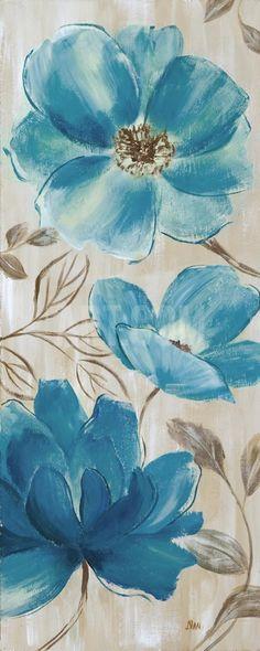 Blue Garden II Art Print by Nan at Art.com; $9.99
