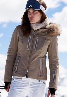 Bogner Fiola-Dtp Sand Jacket with Fur as seen on Paris Hilton