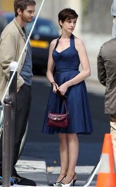 Anne Hathaway - One Day - love the hair and dress