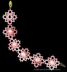 TATtle TALES Tatting Patterns: Novice Tatting Pattern: Rosebud Earring and Bracelet Set
