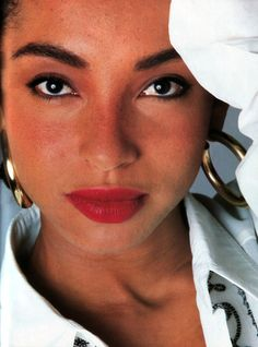 Sade, photographed by Bert Stern for Elle magazine, September 1986.