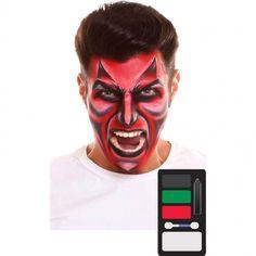 Paleta Maquillaje de Demonio Halloween #maquillajehalloween #efectosespeciales Maquillaje Halloween, Halloween Face Makeup, Products, Demon Makeup, Makeup Pallets, Artistic Make Up, Devil, Halloween Night, Costumes