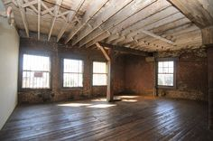 Empty Loft Living Room Makeover - American Dream Builders Makeover - House Beautiful.  Always wanted to live in a loft!